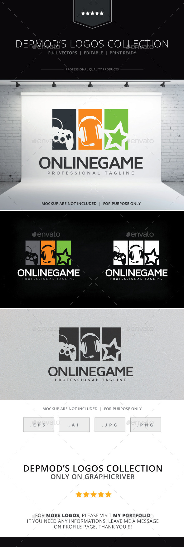 GraphicRiver Online Game Logo 10266361