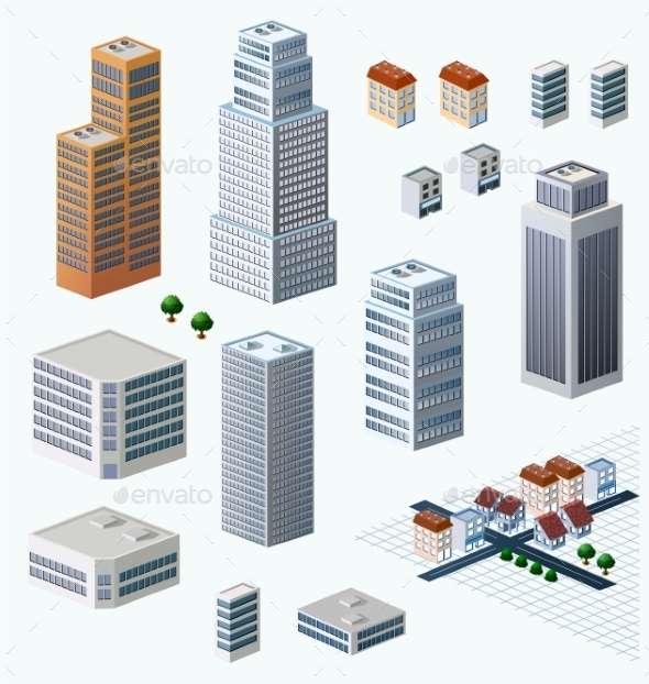 GraphicRiver Skyscrapers 10266386