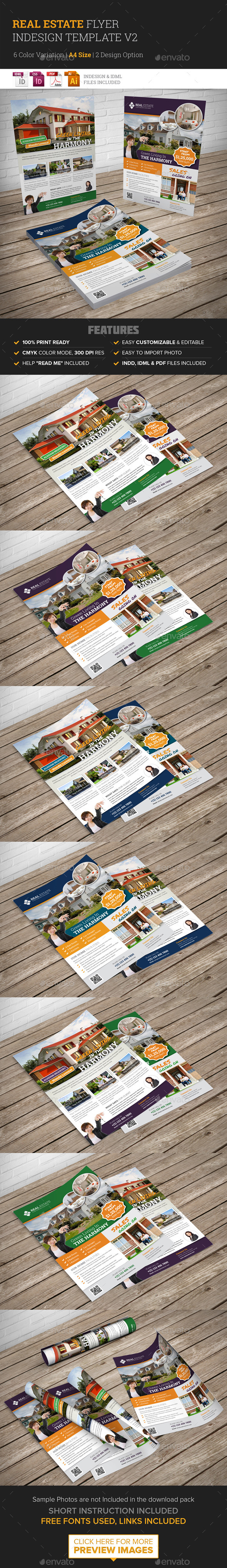 GraphicRiver Real Estate Flyer Indesign Template v2 10266475