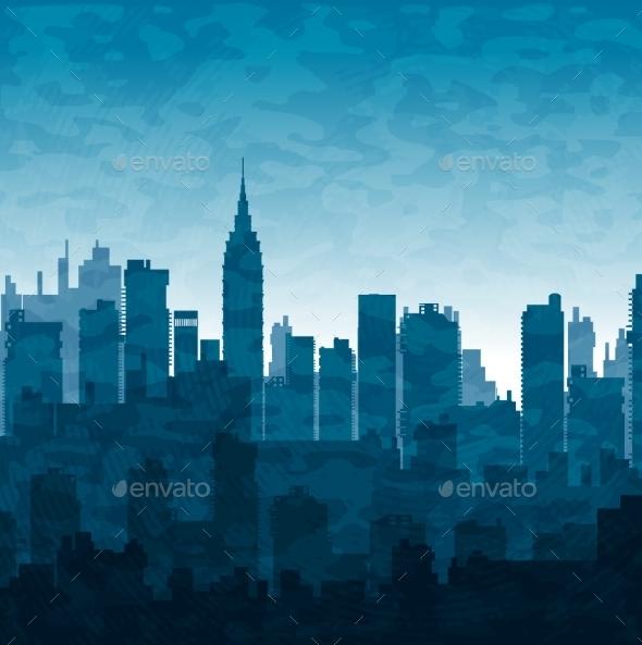 GraphicRiver Blue City 10266482