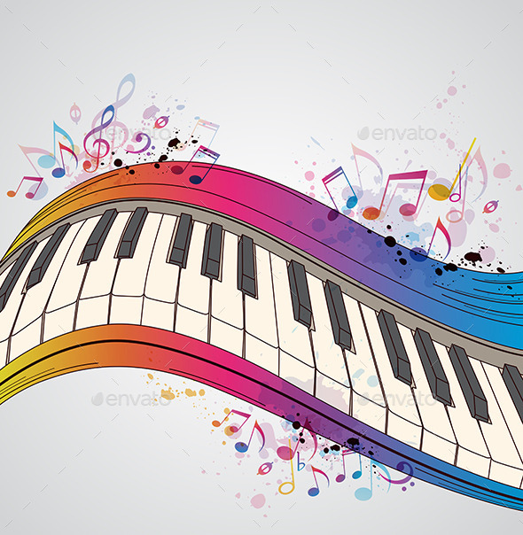 GraphicRiver Music Background with Piano 10266601