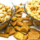 two dish with different nuts and crackers - PhotoDune Item for Sale