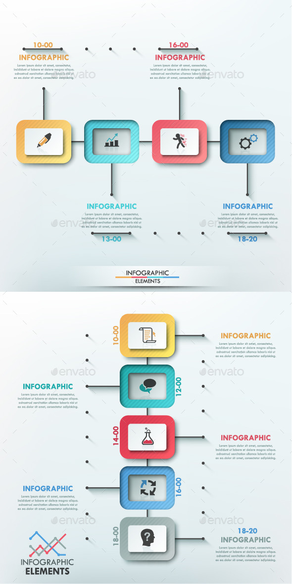 GraphicRiver Modern Infographic Paper Timeline 2 Items 10266848