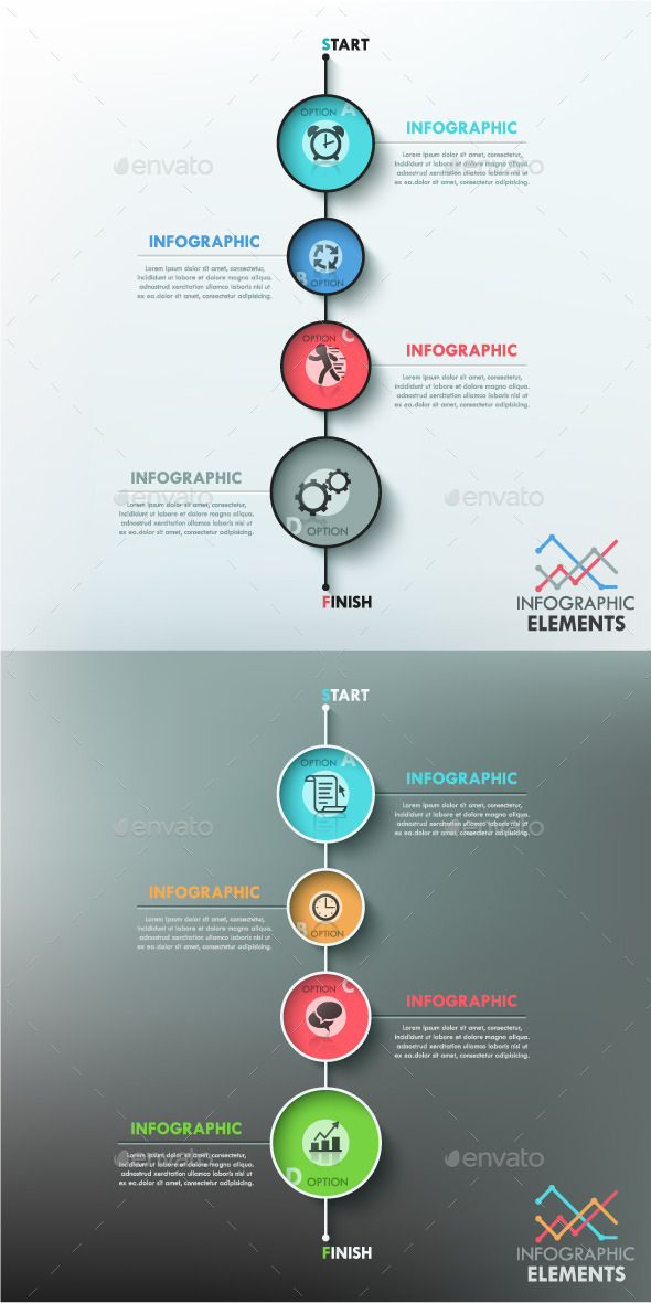 Modern Infographic Template 2 Items