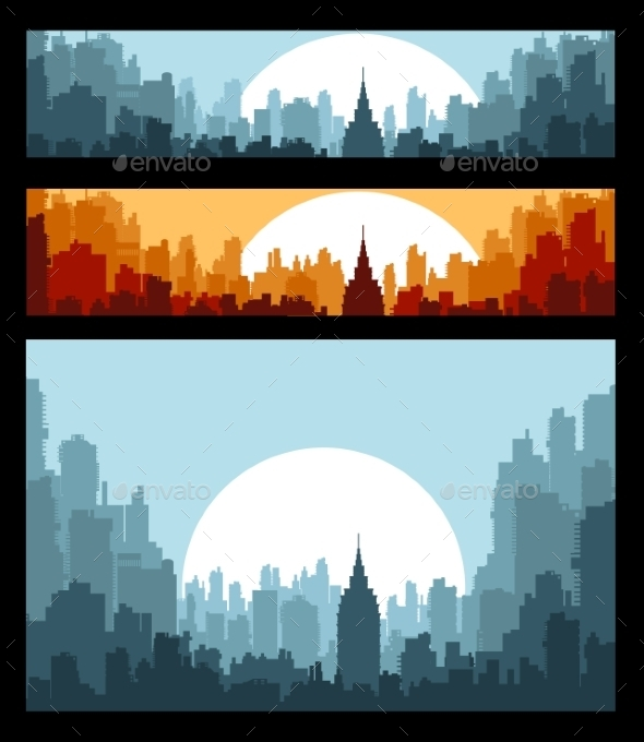 GraphicRiver Banners on City Theme 10266903