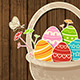 Easter Background with Eggs in Basket - GraphicRiver Item for Sale