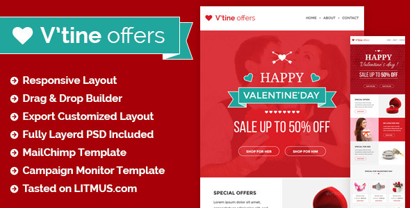 Valentine Special Offers and E-Marketing Template