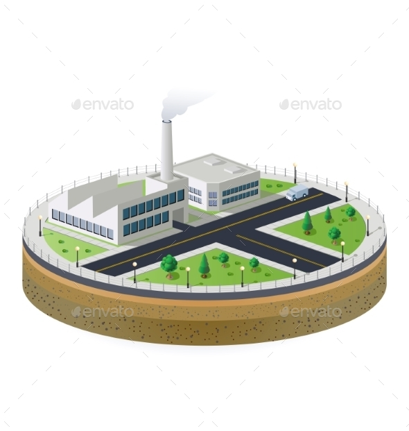 GraphicRiver Industrial Plant 10266994