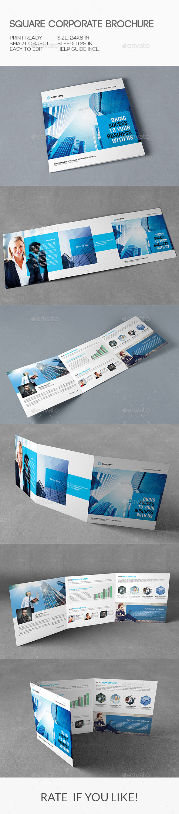 GraphicRiver Square Corporate Brochure 10267045