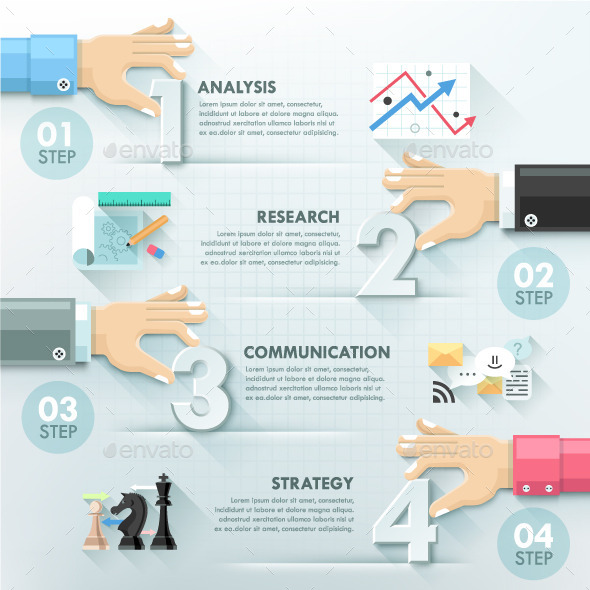 GraphicRiver Business Hands Teamwork Infographics Template 10267082