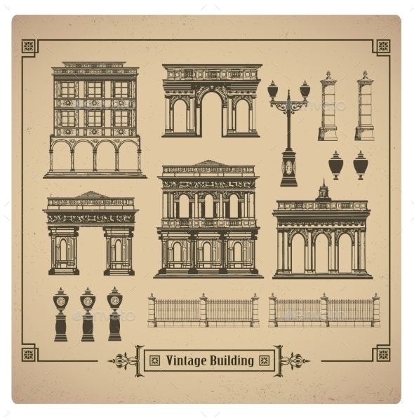 GraphicRiver Retro Buildings 10267087