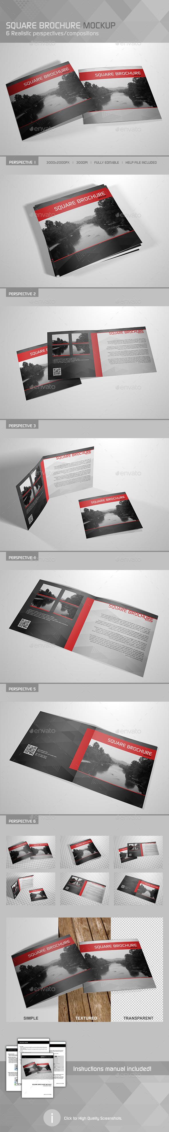 GraphicRiver Realistic Square Brochure Mockup 10267094