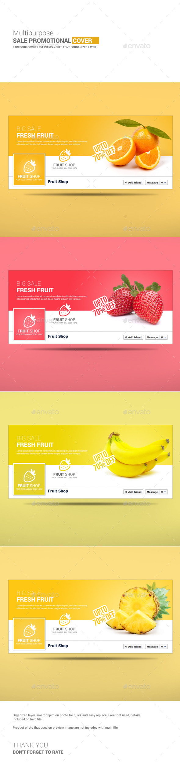 GraphicRiver Multipurpose Sale Facebook Cover 10267237