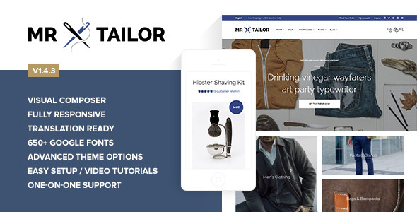 Mr. Tailor - Responsive WooCommerce Theme - WooCommerce eCommerce