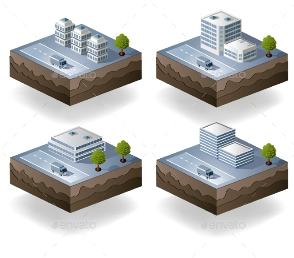 GraphicRiver Isometric City 10267274