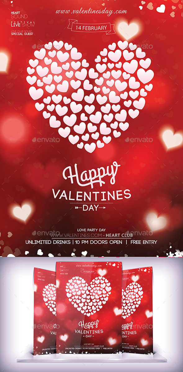 GraphicRiver Love Valentines Party Flyer 10223988