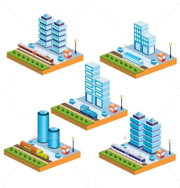 GraphicRiver Isometric City 10267411