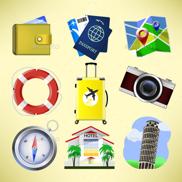 GraphicRiver Travel Icons 10267467