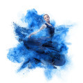 young woman dancing flamenco against explosion - PhotoDune Item for Sale