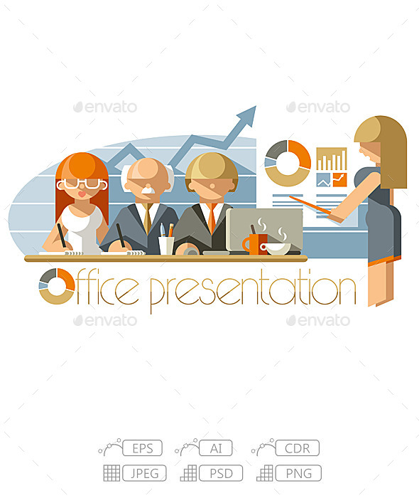 GraphicRiver Flat Office Presentation 10267535