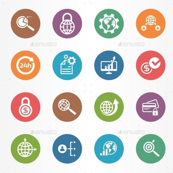 GraphicRiver Business Icons Set 10267572