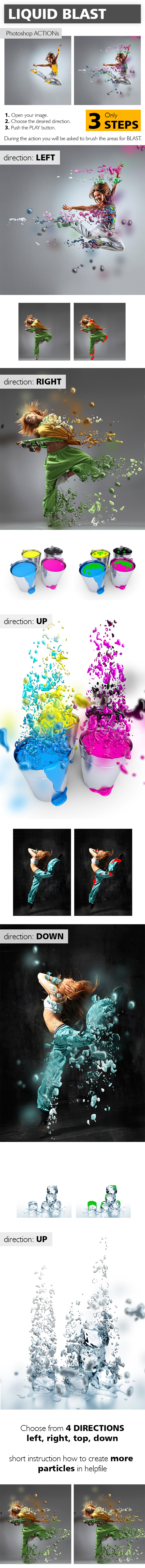 GraphicRiver Liquid Blast Photoshop Action 10267688
