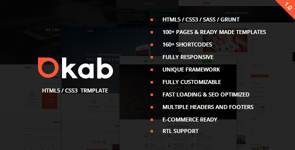 ThemeForest Okab Responsive Multi-Purpose HTML5 Template 10225866