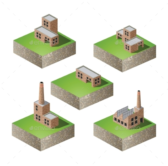 GraphicRiver Isometric Buildings 10267853