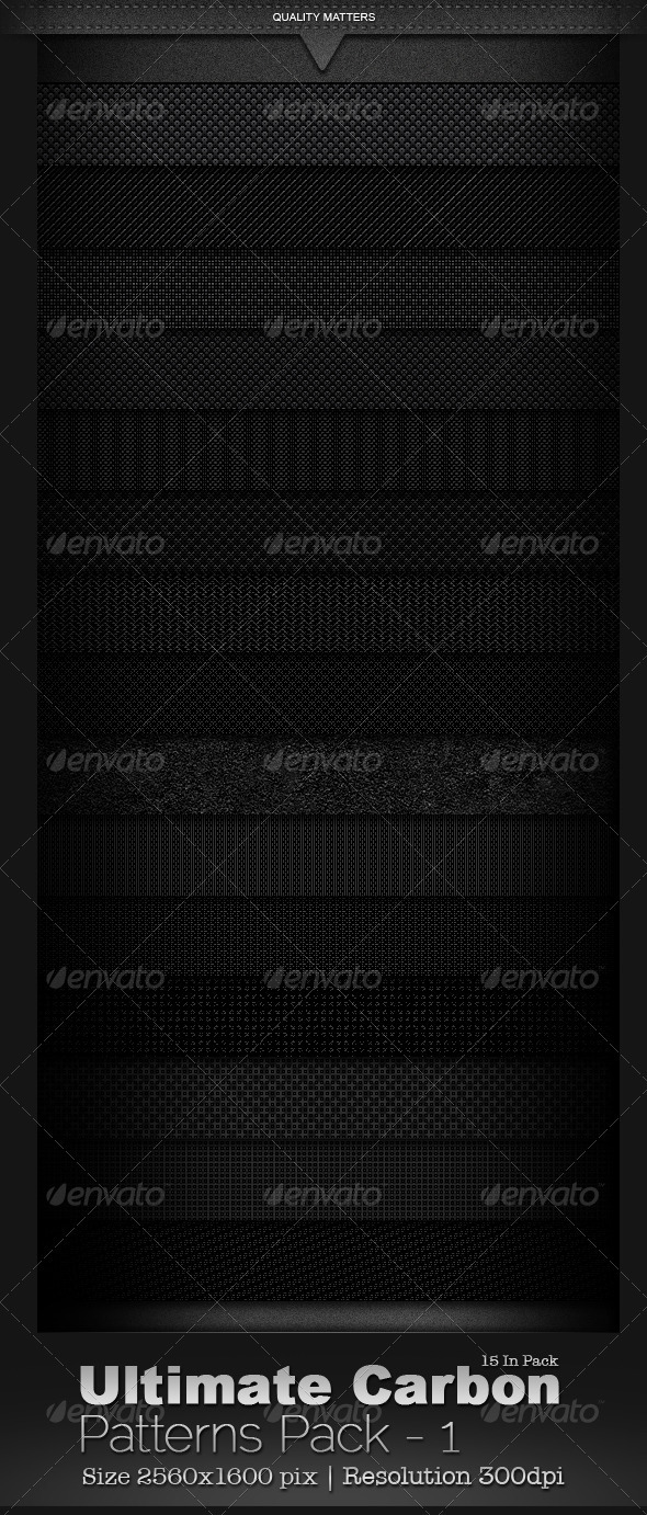 Ultimate Carbon Patterns Pack 1 - Patterns Backgrounds
