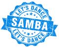 samba blue grunge seal isolated on white - PhotoDune Item for Sale