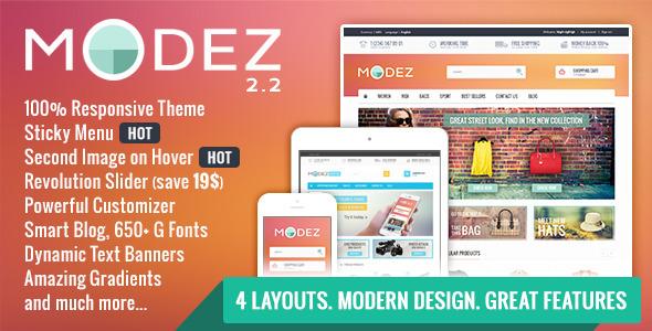 MODEZ - Responsive Prestashop 1.6 Theme + Blog Download