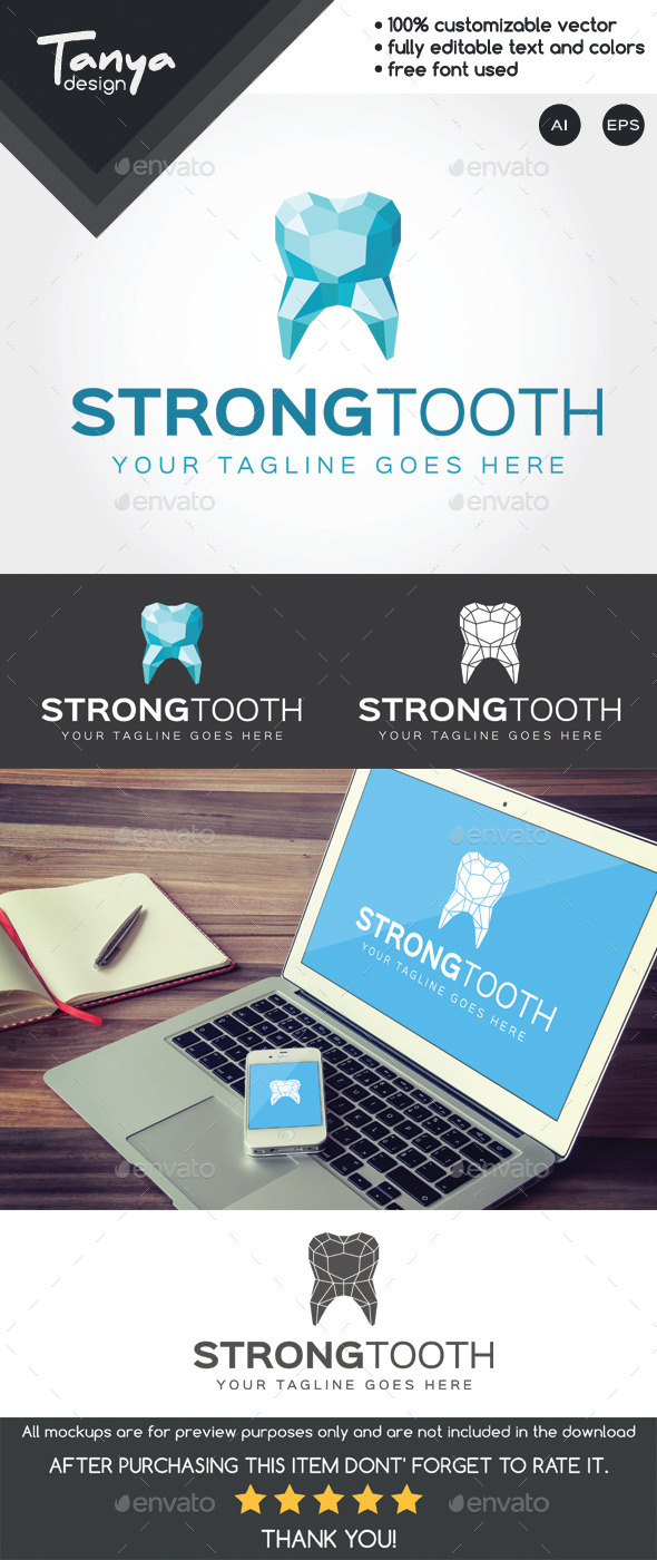 GraphicRiver Strong Tooth Logo Template 10267879