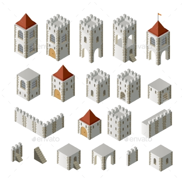 GraphicRiver Medieval Buildings 10267901