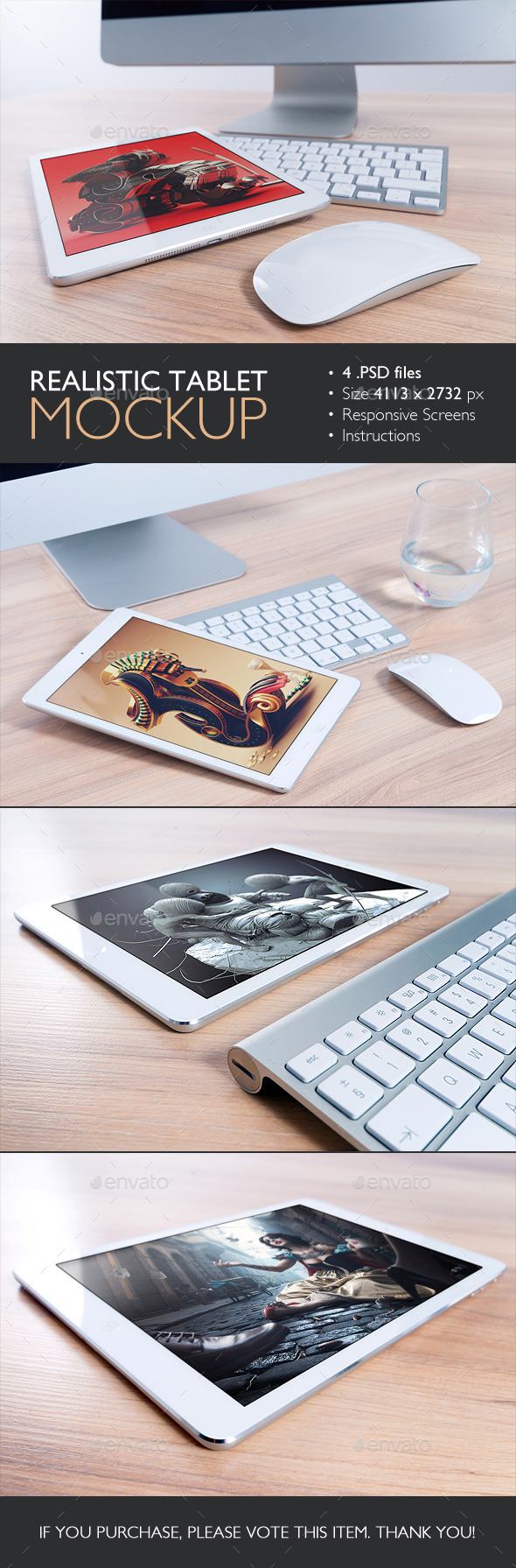GraphicRiver Realistic Tablet Mockup 10268043