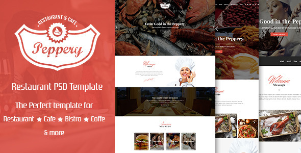 ThemeForest Peppery Food & Restaurant PSD Template 10268288