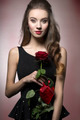 Valentine girl with rose - PhotoDune Item for Sale