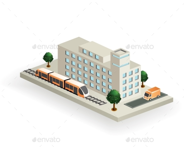 GraphicRiver Isometric Transport 10268339