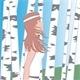 Girl Between Birches