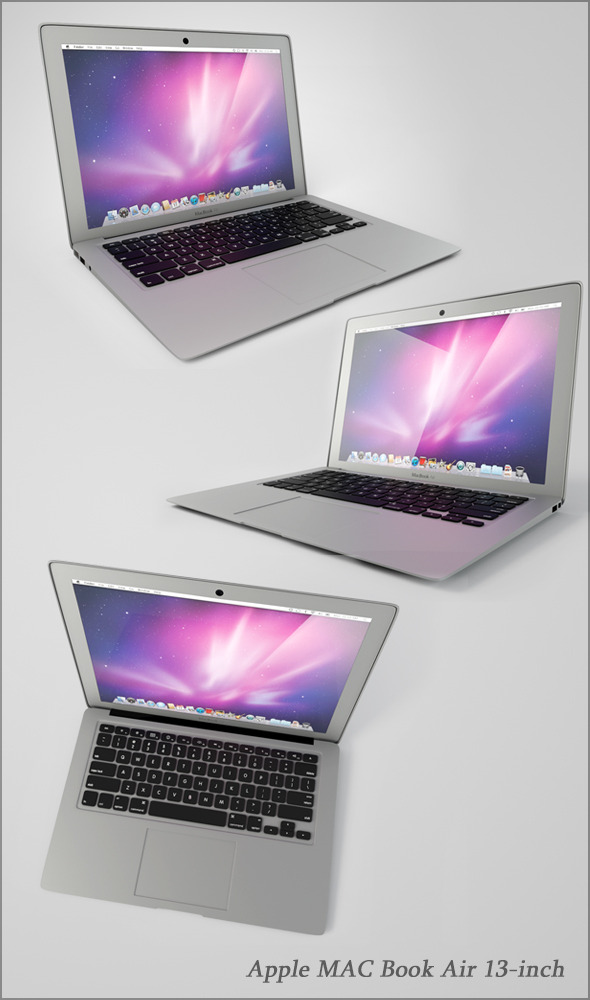 3DOcean Apple MAC Book Air 13-inch 10268826