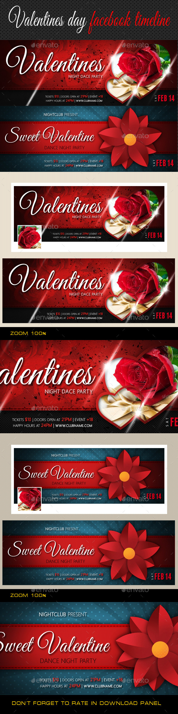 GraphicRiver Valentines Day Facebook Cover Bundle 10268887