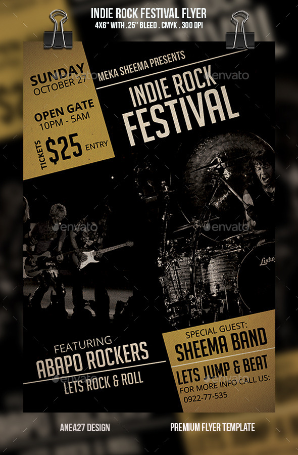 GraphicRiver Indie Rock Festival Flyer 10234544