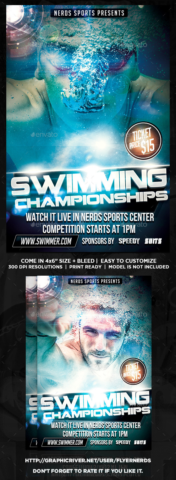 GraphicRiver Swimming 2K15 Championships Sports Flyer 10268988