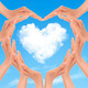 Holiday background with hands making a heart. Valentine's Day.  - PhotoDune Item for Sale
