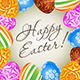 Easter Card with Decorated Eggs - GraphicRiver Item for Sale