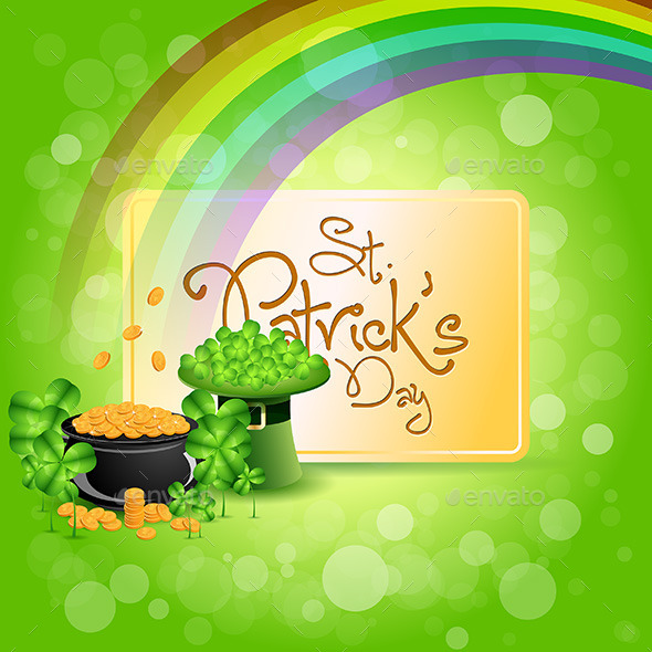 GraphicRiver St Patricks Day Cauldron with Gold Coins 10269284