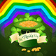 Patrick's Day Card with Leprechaun Hat - GraphicRiver Item for Sale