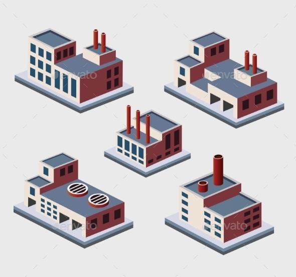 GraphicRiver Isometric Buildings 10269351
