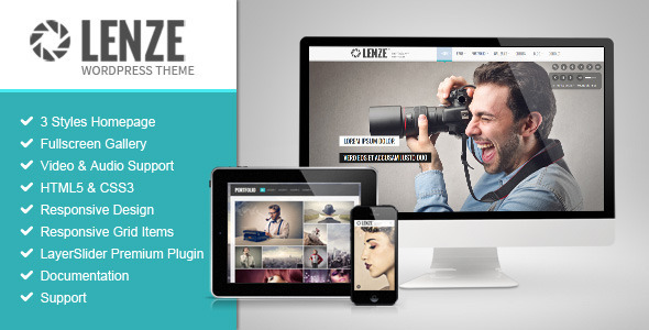 ThemeForest Lenze Portfolio Photography WordPress Theme 9358824