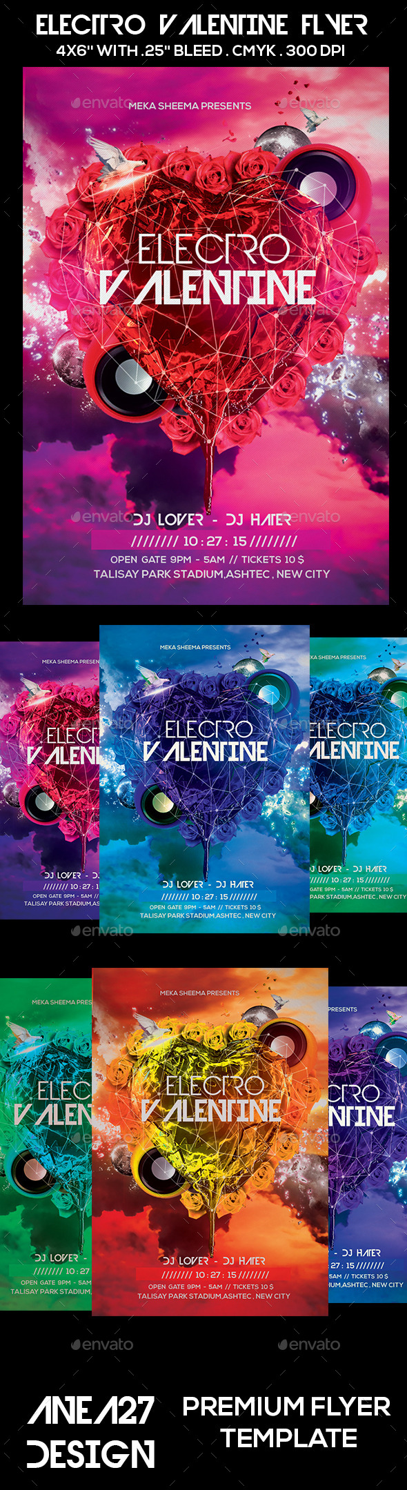 GraphicRiver Electro Valentine Flyer 10269628