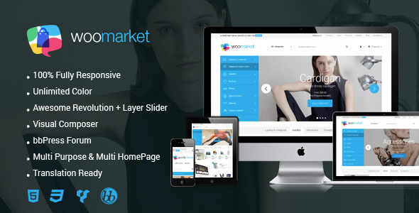 ThemeForest WooMarket Supermarket WordPress WooCommerce Theme 10269736